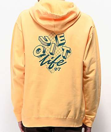 The Quiet Life Grid Peach Hoodie