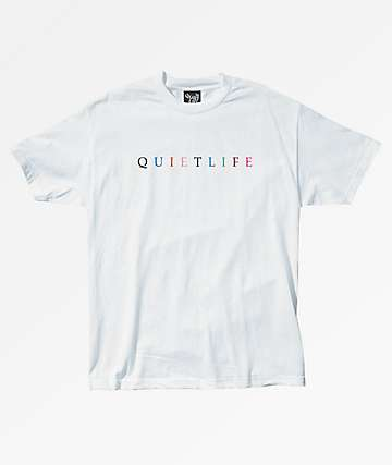 The Quiet Life Rainbow White T-Shirt