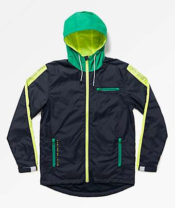 The Quiet Life Ranier Navy Windbreaker Jacket