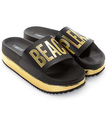 TheWhiteBrand Beach Please Platform Slide Women's Sandals