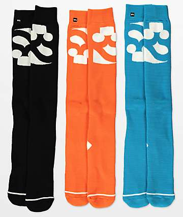 ThirtyTwo 3 Pack Cutout Logo Snowboard Socks
