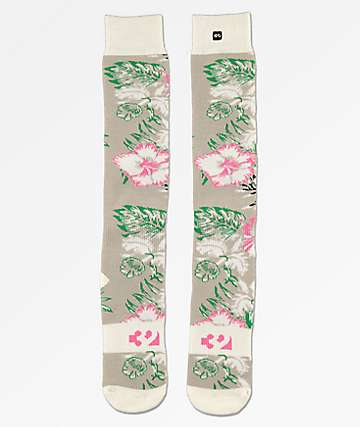 ThirtyTwo Aloha Grey Snowboard Socks