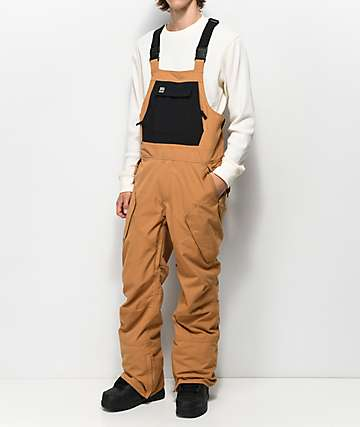 ThirtyTwo Basement Brown 10K Snowboard Bib Pants