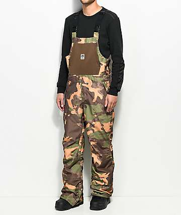 ThirtyTwo Basement Camo 10K Snowboard Bib Pants