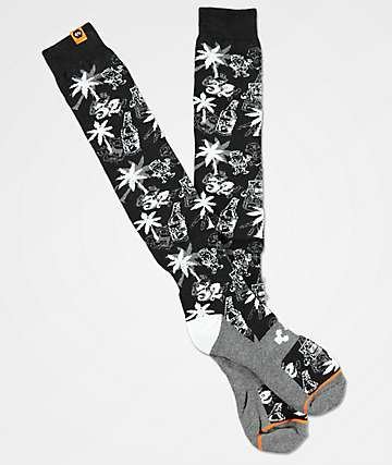 ThirtyTwo Fast Times Black Snowboard Socks