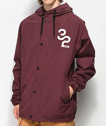 ThirtyTwo Grasser 10K chaqueta de snowboard borgoña