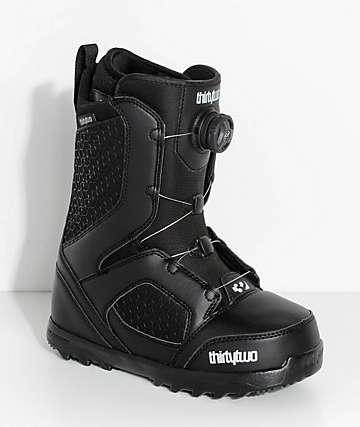 ThirtyTwo STW Boa botas de snowboard negras para mujeres