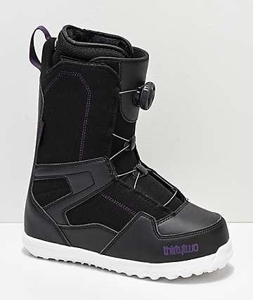 ThirtyTwo Womens Shifty Boa Black Snowboard Boots 2019