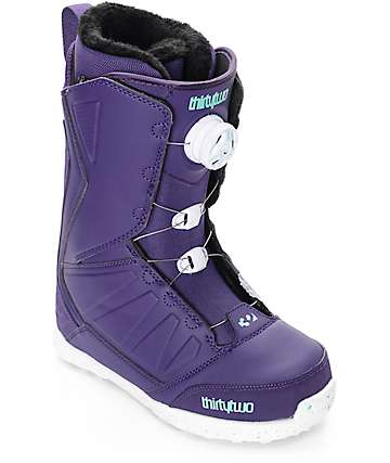 Thirtytwo Lashed Boa Purple Womens Snowboard Boots
