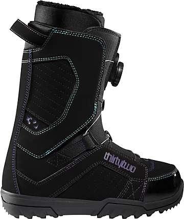 Thirtytwo STW BOA Black Womens Snowboard Boots