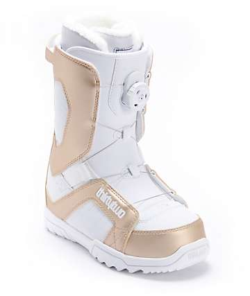 Thirtytwo STW BOA White & Gold Womens Snowboard Boots