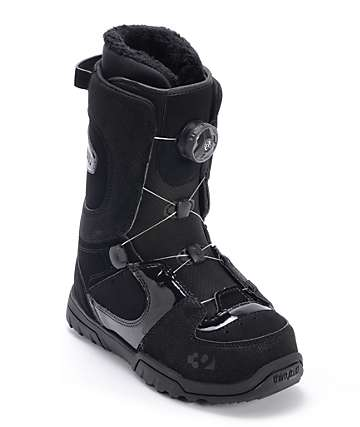 Thirtytwo Womens STW Boa Black Snowboard Boot
