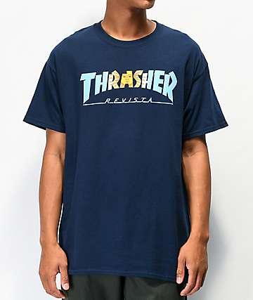 Thrasher Argentina Navy T-Shirt