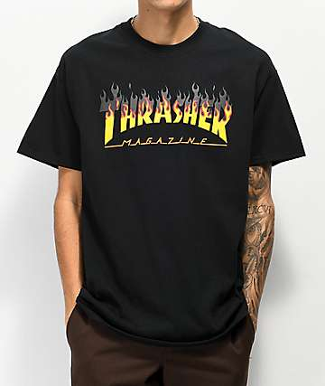 3a4fa5785 Thrasher BBQ Flame Black T-Shirt