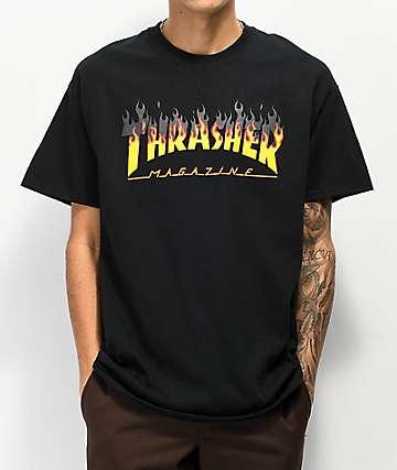 Thrasher BBQ Flame camiseta negra