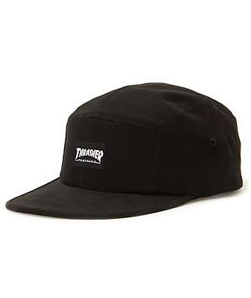 Thrasher Black 5 Panel Hat