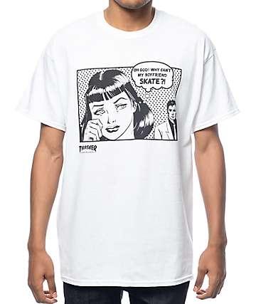 Thrasher Boyfriend camiseta blanca