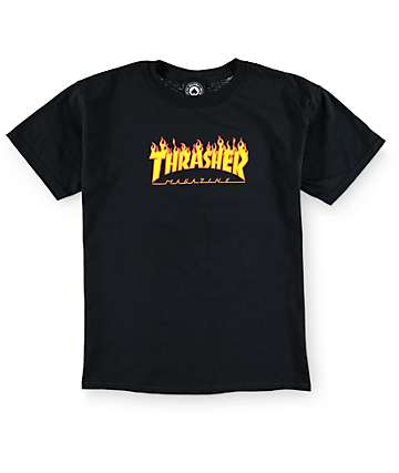 Thrasher Boys Flame Logo T-Shirt
