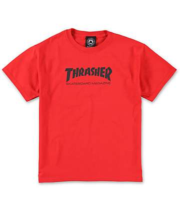 Thrasher Boys Red T-Shirt