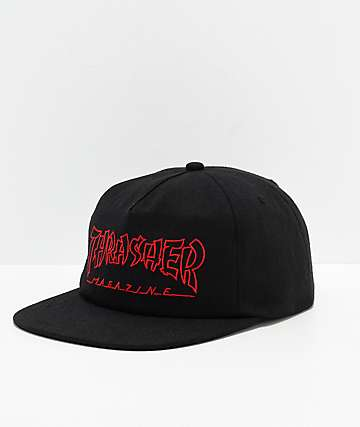 Thrasher China Banks Black & Red Snapback Hat