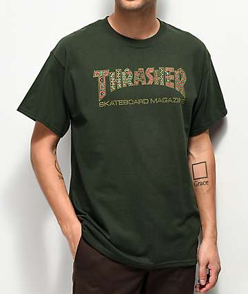 204f4a0dd020 Thrasher Davis Forest Green T-Shirt