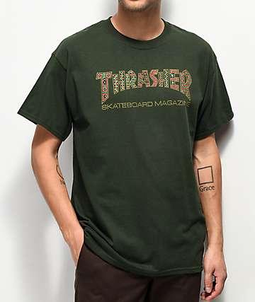 Thrasher Davis Forest camiseta verde