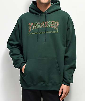Thrasher Davis Forest sudadera verde con capucha