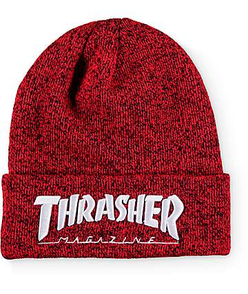 Thrasher Embroidered Logo Red Beanie