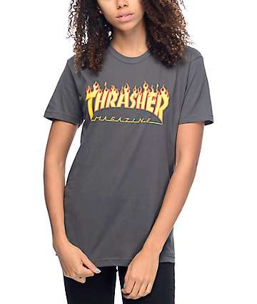 7e1a4e63db Thrasher Flame Logo Heavy Metal T-Shirt