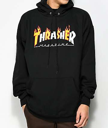 6789d3890eec Thrasher Flame Magazine Black Hoodie