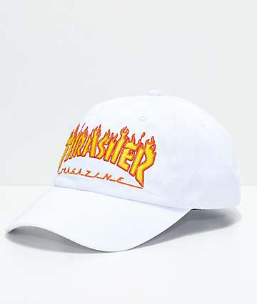 5d9cd22e6c8 Thrasher Flame White Old Timer Hat