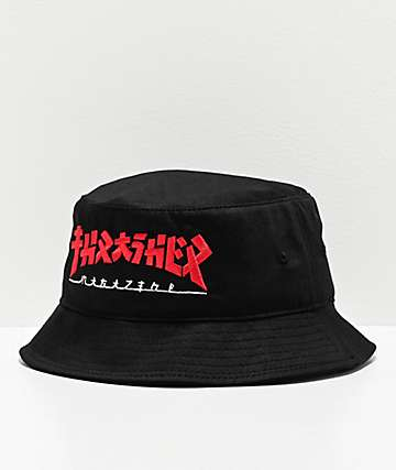 Thrasher Godzilla Black Bucket Hat