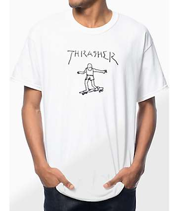 Thrasher Gonz White T-Shirt