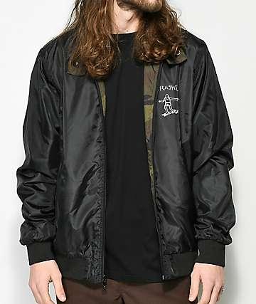 Thrasher Gonz chaqueta reversible de camuflaje y negro