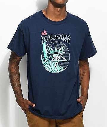 Thrasher Liberty Goat camiseta en azul marino