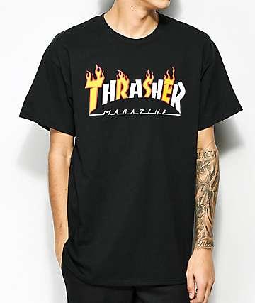 Thrasher Mag Flame Black T-Shirt