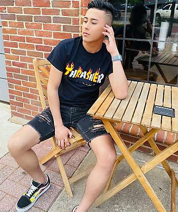 f99437f9 Thrasher Mag Flame Black T-Shirt