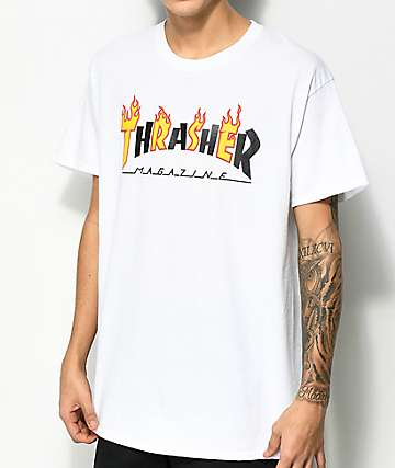 cfb8b8c628729 Thrasher Mag Flame White T-Shirt