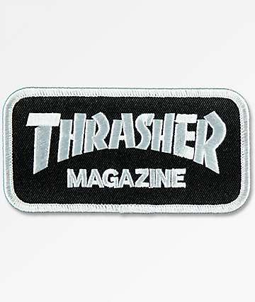 Thrasher Mag Logo Black & Silver Patch