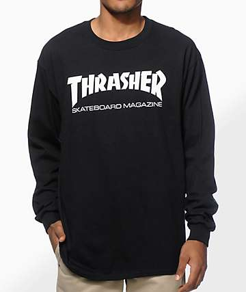 f0d3cbbaf016 Thrasher Mag Logo Long Sleeve T-Shirt