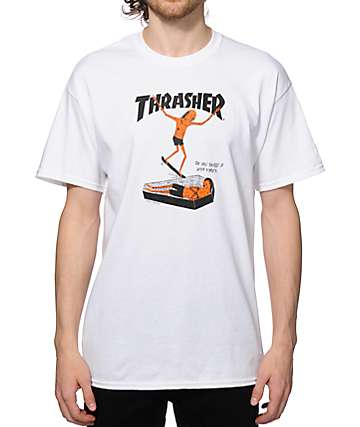 Thrasher Neck Face camiseta