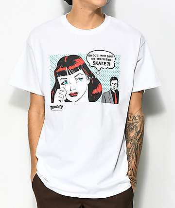Thrasher New Boyfriend White T-Shirt