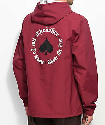 Thrasher New Oath Cardinal Coaches Jacket