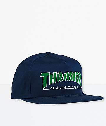 Thrasher Outlined Navy Snapback Hat