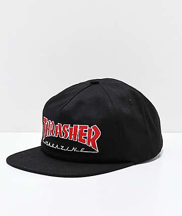 Thrasher Outlined gorra negra