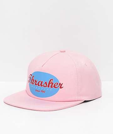 Thrasher Oval Pink Snapback Hat