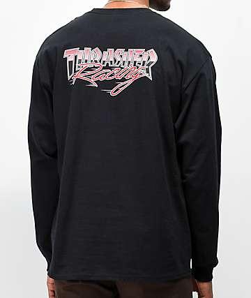 Thrasher Racing camiseta negra de manga larga
