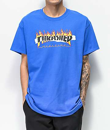 Thrasher Ripped Blue T-Shirt