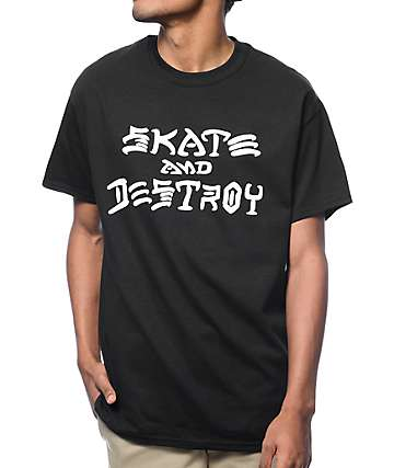 Thrasher Skate And Destroy Black T-Shirt