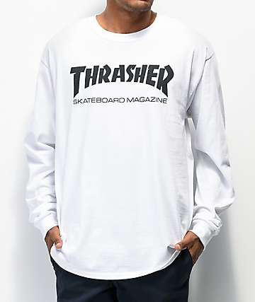 Thrasher Skate Mag Long Sleeve White T-Shirt